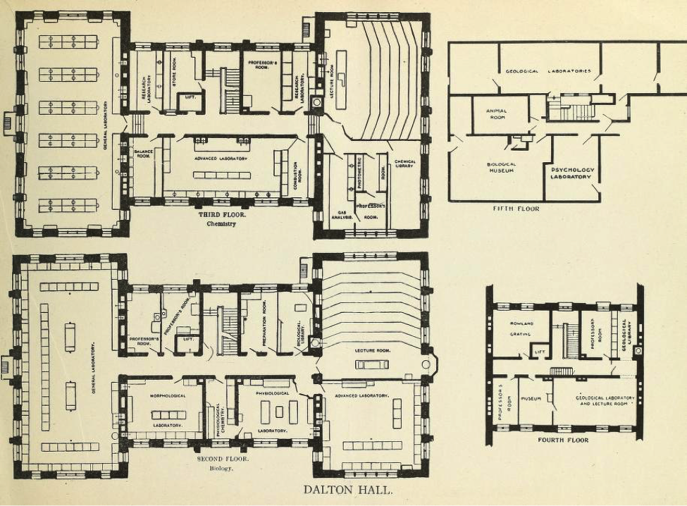 Dalton Hall floorplan.
